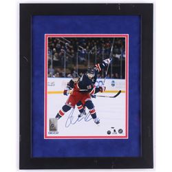 Derick Brassard Signed New York Rangers 13x16 Custom Framed Photo Display (Steiner COA)