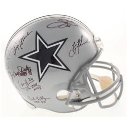 Dallas Cowboys Greats Full-Size Helmet Team-Signed by (23) with Roger Staubach, Troy Aikman, Michael
