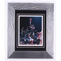"George Gervin Signed San Antonio Spurs 15.5x18.5 Custom Framed Photo Inscribed ""HOF 96"" (Steiner COA"