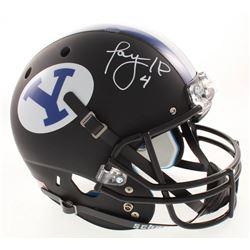 Taysom Hill Signed BYU Cougars Matte Black Full-Size Helmet (Radtke COA)