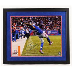 """Odell Beckham Jr. Signed New York Giants """"The Catch"""" 22x26 Custom Framed Photo (Steiner COA)"""