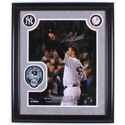 Andy Pettitte Signed LE New York Yankees 23x27 Custom Framed Photo Display (Steiner Hologram)