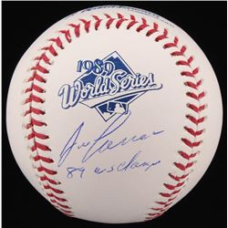 "Jose Canseco Signed 1989 World Series Logo Baseball Inscribed ""89 WS Champs"" (Schwartz COA)"