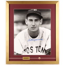 Ted Williams Signed Boston Red Sox 21x25 Custom Framed Photo with Pin (PSA LOA  Ted Williams Hologra