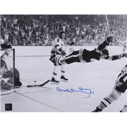 """Bobby Orr Signed Bruins """"The Flying Goal"""" 11x14 Photo (Orr COA)"""