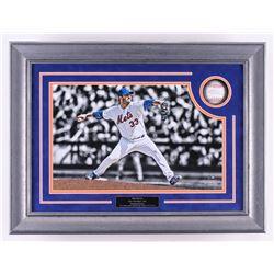 Matt Harvey Signed 18x23.5x2.75 Custom Framed OML Baseball Shadowbox Display With Game Used Dirt (St