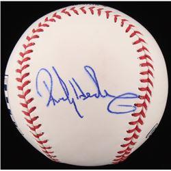 Rickey Henderson Signed OML Commemorative Hall of Fame Baseball (JSA COA)