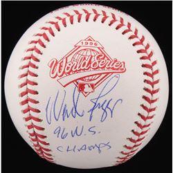 "Wade Boggs Signed 1996 World Series Logo Baseball Inscribed ""96 W.S. Champs"" (Schwartz COA)"