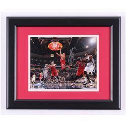 Jeremy Lin Signed Houston Rockets 13.5x16.5 Custom Framed Photo Display (Steiner COA)