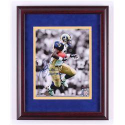 "Marshall Faulk Signed St. Louis Rams 12.75x15.75 Custom Framed Photo Display Inscribed ""HOF 20XI"" (S"
