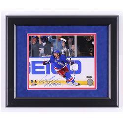 Carl Hagelin Signed New York Rangers 13.5x16.5 Custom Framed Photo Display (Steiner COA)
