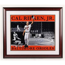 Cal Ripken Jr. Signed LE 22.75x26.75 Custom Framed Photo (Steiner COA, MLB Hologram,  Ironclad Holog