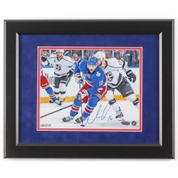 Derick Brassard Signed New York Rangers 2014 Stanley Cup Final 13x16 Custom Framed Photo Display (St