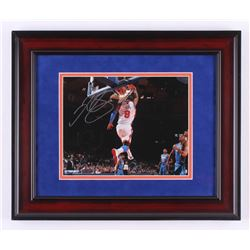 J.R. Smith Signed New York Knicks 14.25x17.25 Custom Framed Photo Display (Steiner COA)