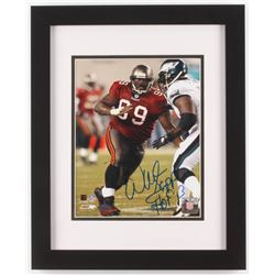 "Warren Sapp Signed Tampa Bay Buccaneers 13x16 Custom Framed Photo Display Inscribed ""HOF 13"" (Steine"