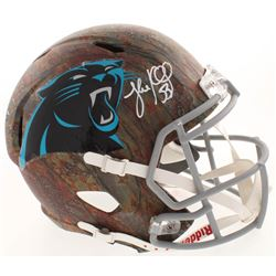 Luke Kuechly Signed Carolina Panthers Full-Size Hydro-Dipped Speed Helmet (JSA COA)