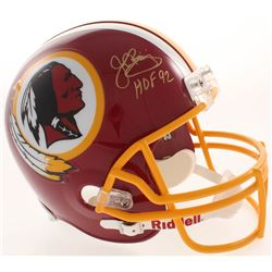 "John Riggins Signed Washington Redskins Full-Size Helmet Inscribed ""HOF 92"" (JSA COA  Radtke COA)"