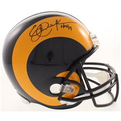 "Eric Dickerson Signed Los Angeles Rams Full-Size Helmet Inscribed ""HOF 99"" (JSA COA)"