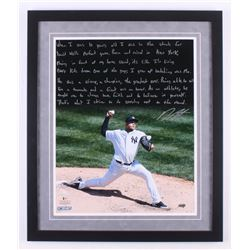 Dellin Betances Signed New York Yankees 22x26 Custom Framed Photo with Extensive Inscription (Steine