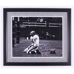 "Y. A. Tittle Signed Baltimore Colts 22x26 Custom Framed Photo Inscribed ""HOF 71"" (Steiner COA)"