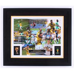 James Rodriguez Signed 2014 FIFA World Cup 22x26 Custom Framed Photo (Steiner Hologram  Icons COA)