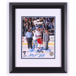 "Glenn Anderson Signed New York Rangers ""Stanley Cup"" 13.5x16.5 Custom Framed Photo Display Inscribed"