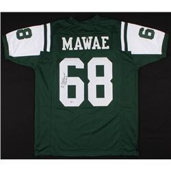 "Kevin Mawae Signed New York Jets Jersey Inscribed ""HOF 2019"" (Beckett COA)"