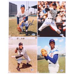 Lot of (4) Signed Baseball Pitching Legends 8x10 Photos with Fergie Jenkins, Sparky Lyle, Tommy John