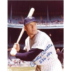 "Mickey Mantle Signed New York Yankees 8x10 Photo Inscribed ""536 HR's"" (PSA LOA)"