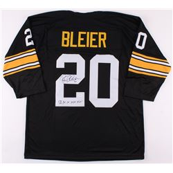 "Rocky Bleier Signed Pittsburgh Steelers Jersey Inscribed ""SB IX, X, XIII, XIV"" (TSE COA)"