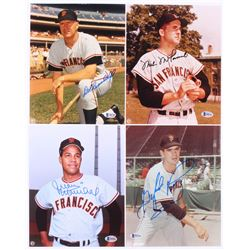 Lot of (4) Signed San Francisco Giants Legends 8x10 Photos with Gaylord Perry, Juan Marichal, Mike M