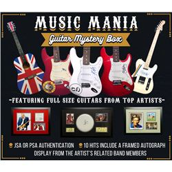 Music Mania Guitar Mystery Box Series 1 - Featuring Full Size Guitars From Top Artists!