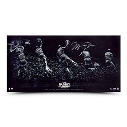 "Michael Jordan Signed Chicago Bulls ""Kiss the Rim"" 18x36 Limited Edition Photo (UDA COA)"