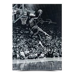 """Michael Jordan Signed Chicago Bulls """"Frozen in Time"""" 30x40 Limited Edition Photo (UDA COA)"""