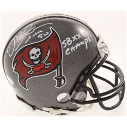 "Mike Alstott Signed Tampa Bay Buccaneers Mini-Helmet Inscribed ""SB XXXVII Champs"" (JSA COA)"