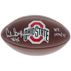 """Archie Griffin Signed Ohio State Buckeyes Logo Football Inscribed """"H.T. 1974/75"""" (Sports Collectible"""