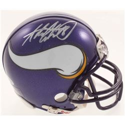 Adrian Peterson Signed Minnesota Vikings Mini Helmet (Beckett COA)