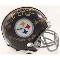 Jack Ham, Jack Lambert  Andy Russell Signed Pittsburgh Steelers Mini-Helmet with (3) Inscriptions (J