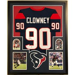 Jadeveon Clowney Signed Houston Texans 34x42 Custom Framed Jersey (Beckett COA)