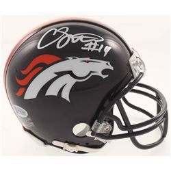 Courtland Sutton Signed Denver Broncos Mini Helmet (Beckett COA)