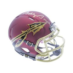 Bobby Bowden Signed Florida State Seminoles Matte Red Speed Mini Helmet (Sports Collectibles Hologra