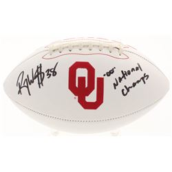 "Roy Williams Signed Oklahoma Sooners Logo Football Inscribed """"00"" National Champs"" (JSA COA)"