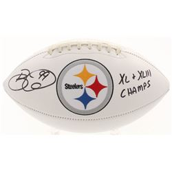 "Brett Keisel Signed Pittsburgh Steelers Logo Football Inscribed ""XL  XLIII Champs"" (JSA COA)"