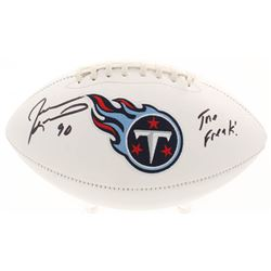 "Jevon Kearse Signed Tennessee Titans Logo Football Inscribed ""The Freak!"" (Beckett COA)"