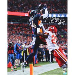 Courtland Sutton Signed Denver Broncos 16x20 Photo (Beckett COA)