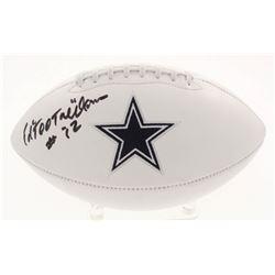 "Ed ""Too Tall"" Jones Signed Dallas Cowboys Logo Football (JSA COA)"