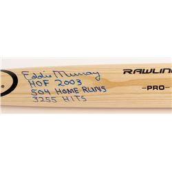 "Eddie Murray Signed Rawlings Pro Model Baseball Bat Inscribed ""HOF 2003"", ""504 Home Runs""  ""3255 Hit"