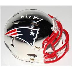 N'Keal Harry Signed New England Patriots Chrome Speed Mini-Helmet (Beckett COA)