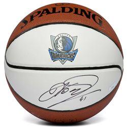 Dirk Nowitzki Signed Dallas Mavericks Logo Basketball (Panini COA)