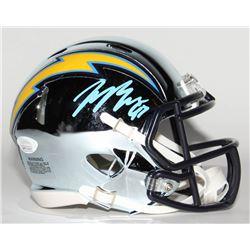 Joey Bosa Signed Los Angeles Chargers Chrome Speed Mini-Helmet (JSA COA)